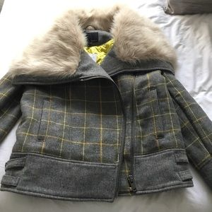 Pea coat with Faux fur